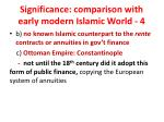 significance comparison with early modern islamic world 4