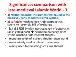 significance comparison with late medieval islamic world 3