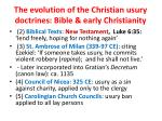 the evolution of the christian usury doctrines bible early christianity1
