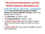 the financial revolution and the british industrial revolution 1