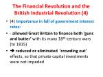 the financial revolution and the british industrial revolution 4