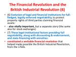 the financial revolution and the british industrial revolution 6