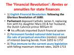 the financial revolution rentes or annuities for state finances