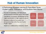 hub of human innovation