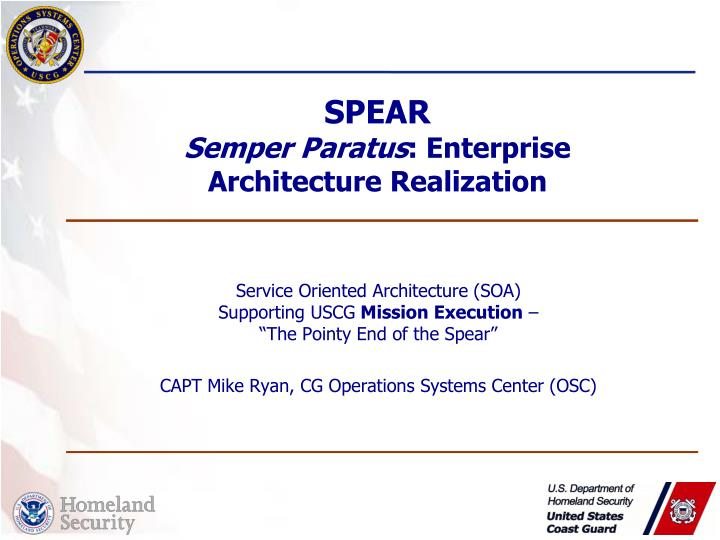 spear semper paratus enterprise architecture realization n.
