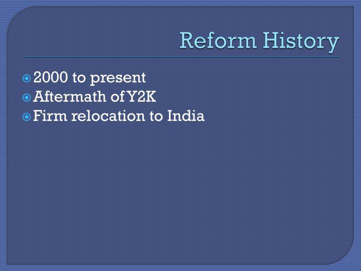 Reform History