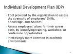 individual development plan idp