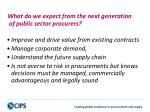 what do we expect from the next generation of public sector procurers1
