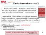 effective communication cont d