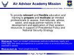 air advisor academy mission