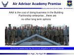 air advisor academy premise