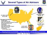 several types of air advisors