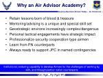 why an air advisor academy