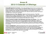 annex b 2012 13 calendar of offerings1