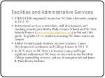 facilities and administrative services