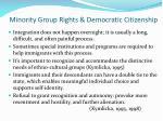 minority group rights democratic citizenship