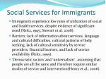social services for immigrants
