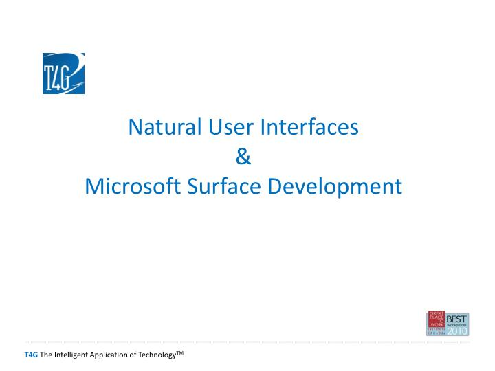natural user interfaces microsoft surface development n.