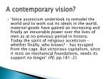 a contemporary vision