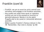 franklin cont d