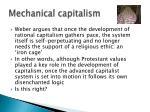 mechanical capitalism
