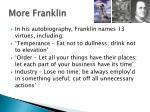 more franklin