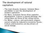 the development of rational capitalism