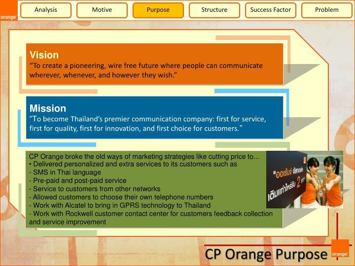 CP Orange broke the old ways of marketing strategies like cutting price to...