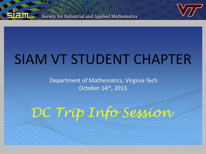 siam vt student chapter n.
