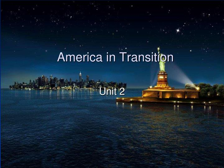 america in transition n.