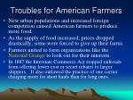 troubles for american farmers