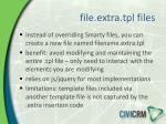 file extra tpl files