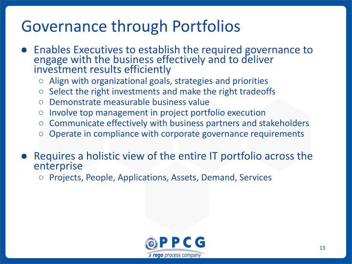 Governance through Portfolios