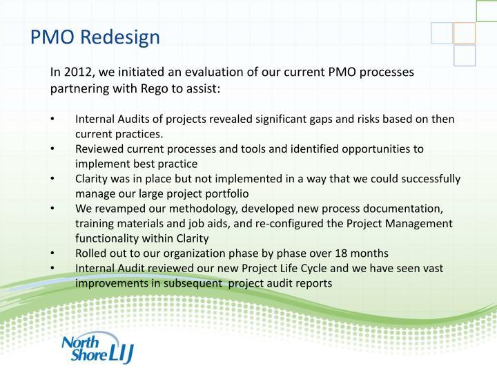 PMO Redesign