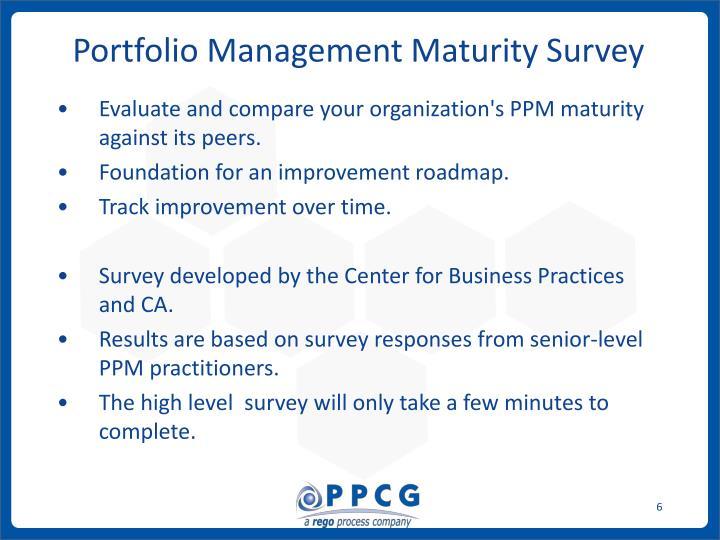 Portfolio Management Maturity Survey