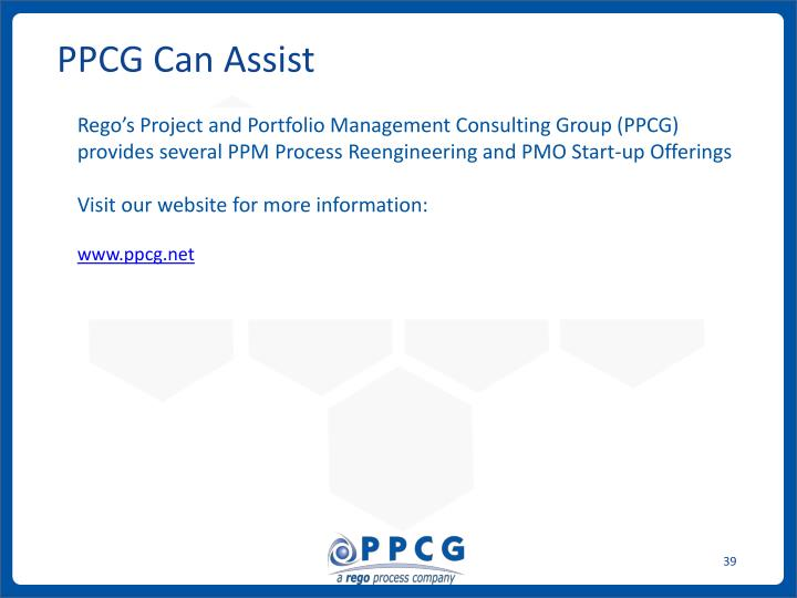 PPCG Can Assist