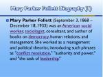 mary parker follett biography 1