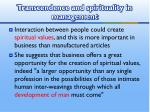 transcendence and spirituality in management1