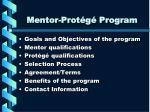 mentor prot g program