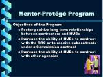 mentor prot g program2