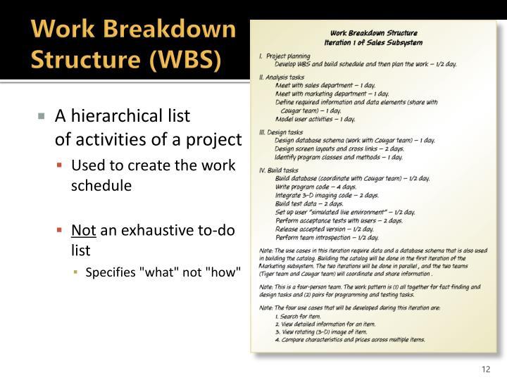 Work Breakdown