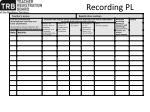 recording pl