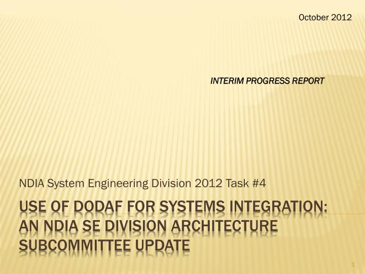 ndia system engineering division 2012 task 4 n.