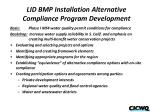 lid bmp installation alternative compliance program development