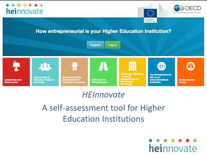 heinnovate a self assessment tool for higher education institutions n.