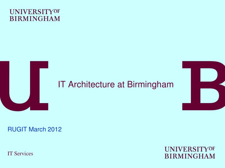 it architecture at birmingham n.