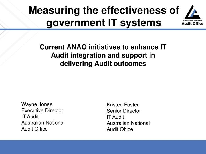 measuring the effectiveness of government it systems n.