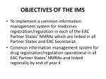 objectives of the ims
