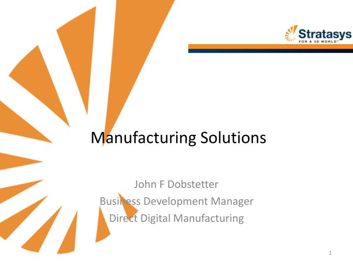 manufacturing solutions n.