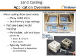 sand casting application overview